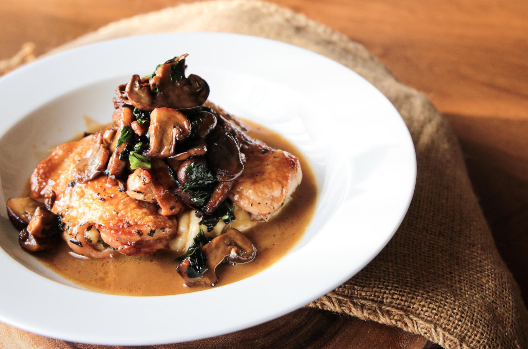 Roasted Chicken Marsala