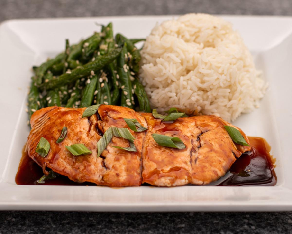 Teriyaki-Glazed Fresh Atlantic Salmon*