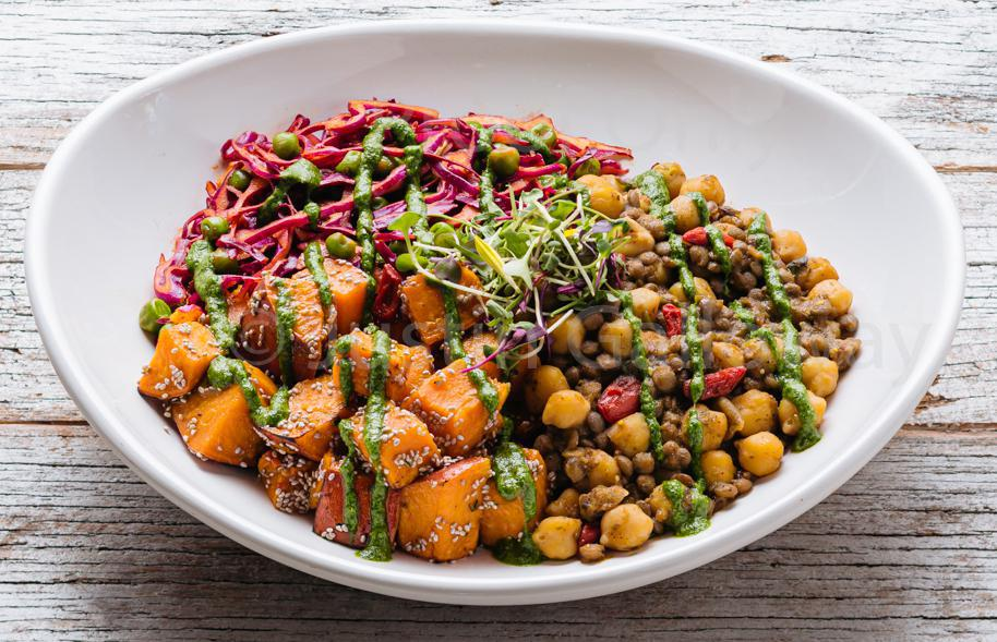 Chickpea + Sweet Potato Bowl