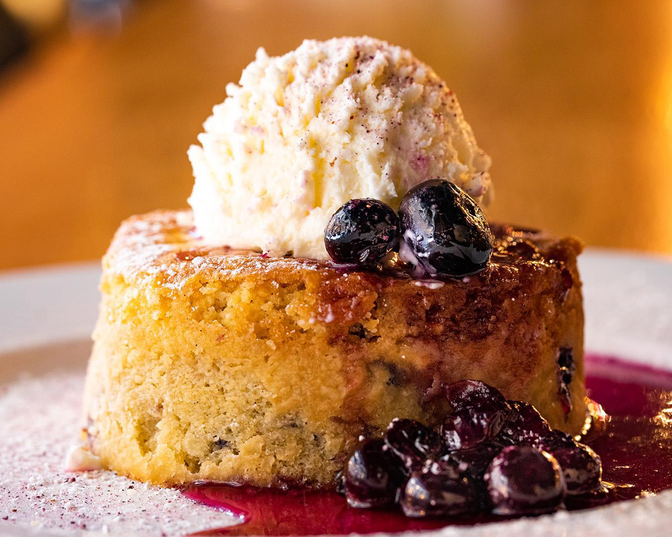 Warm Blueberry Butter Cake