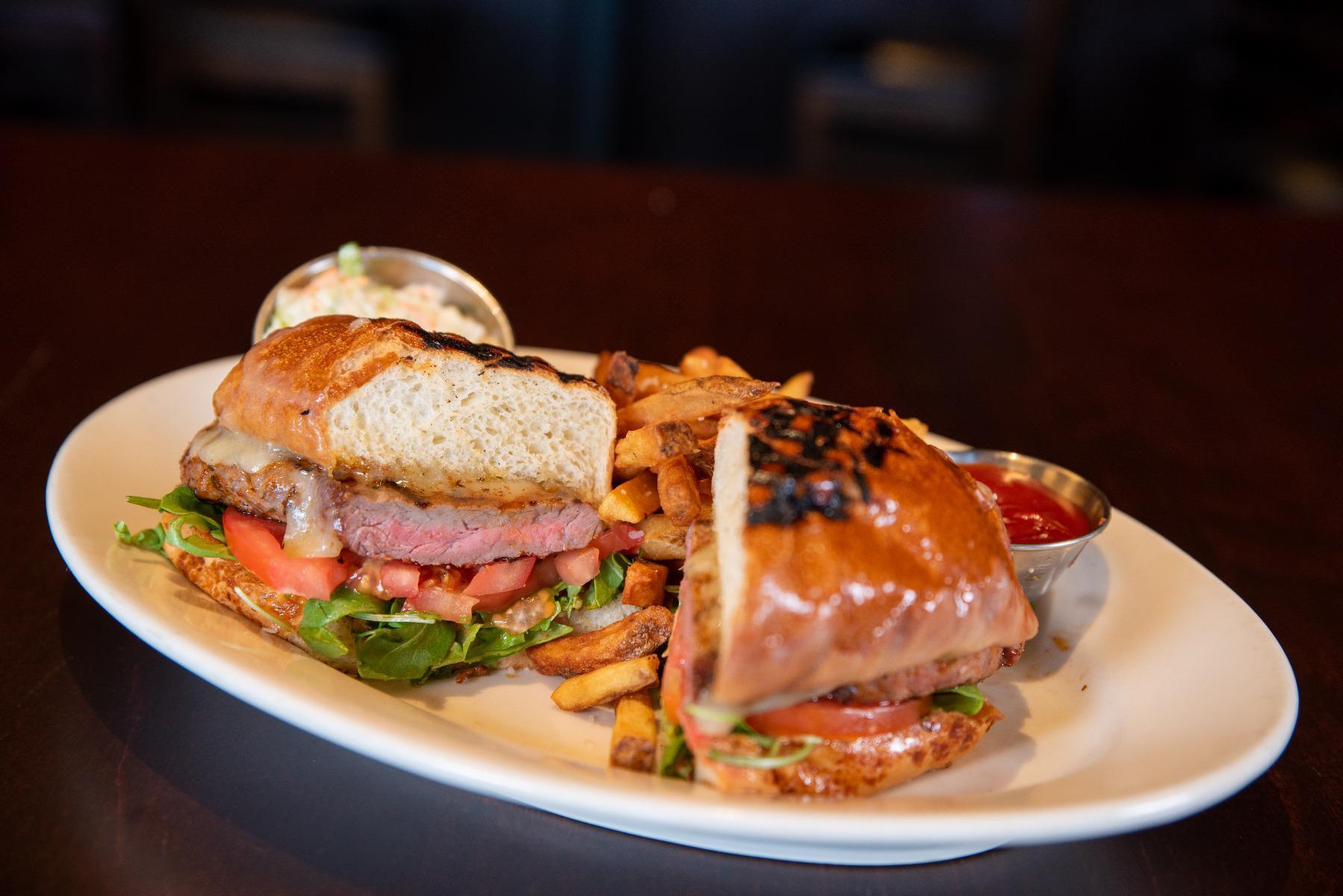 Blackened New York Strip Steak Sandwich