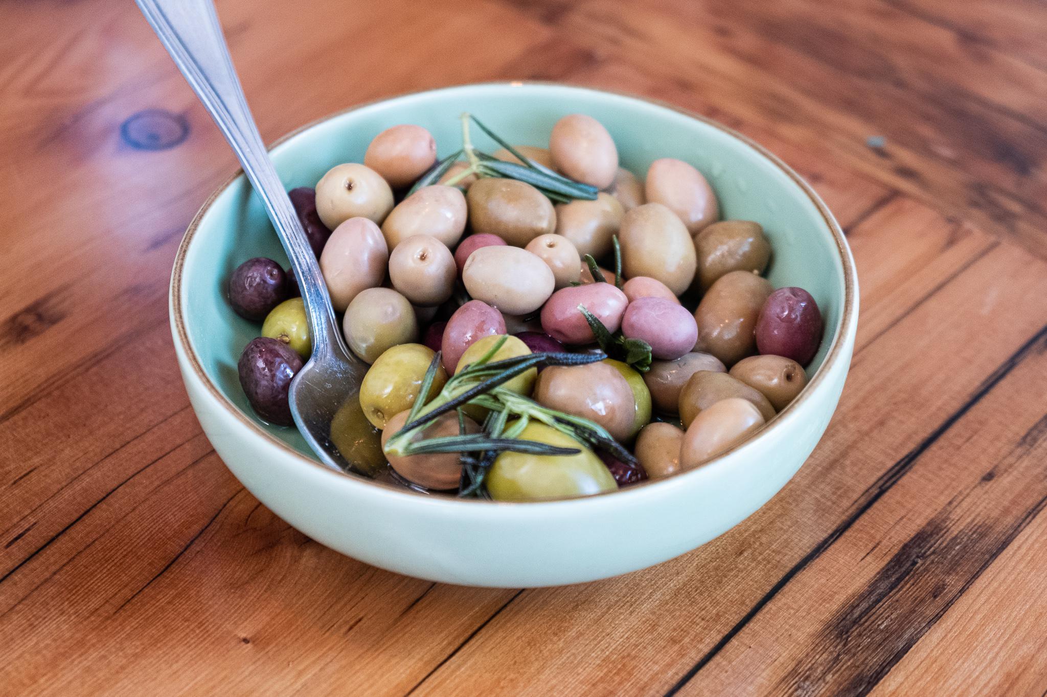 house-marinated spanish olives