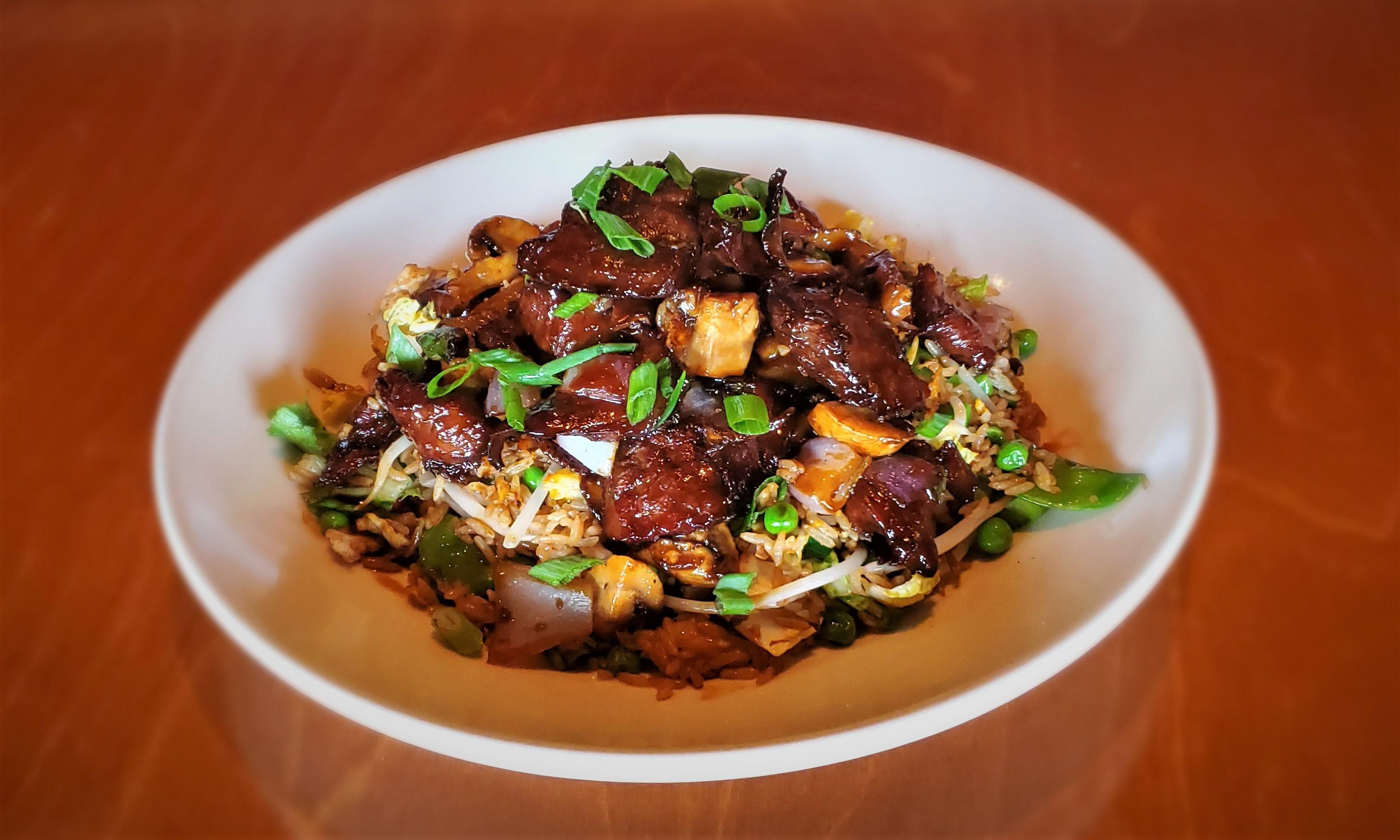 Soy Glazed Beef Fried Rice