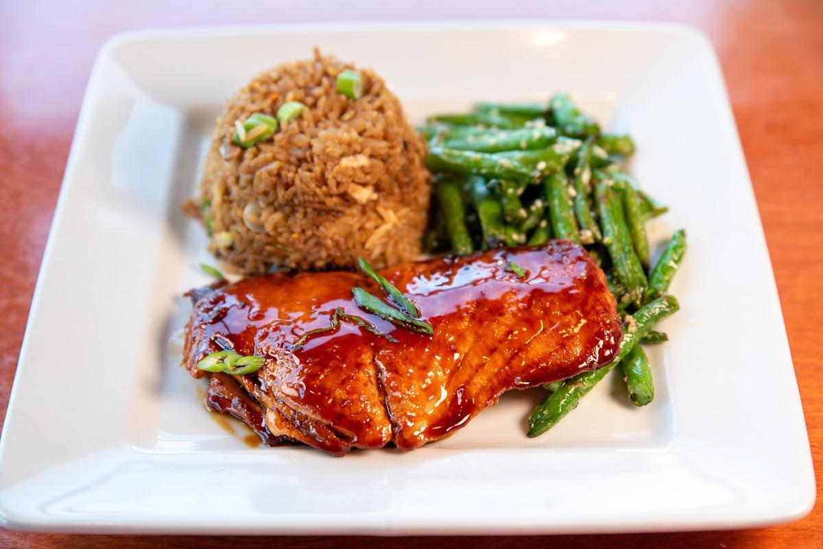 Teriyaki-Glazed Fresh Atlantic Salmon*
