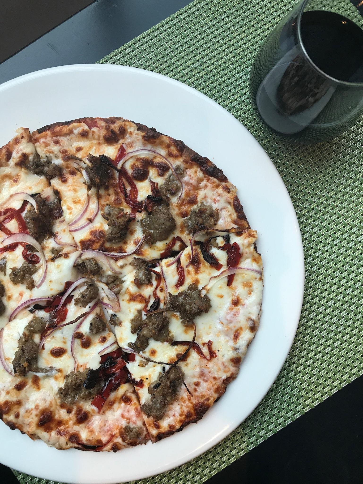 Creole Country Italian Sausage Flatbread Pizza Photo