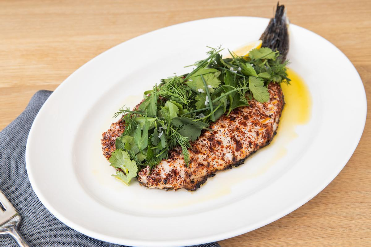 Charcoal-Grilled Black Bass