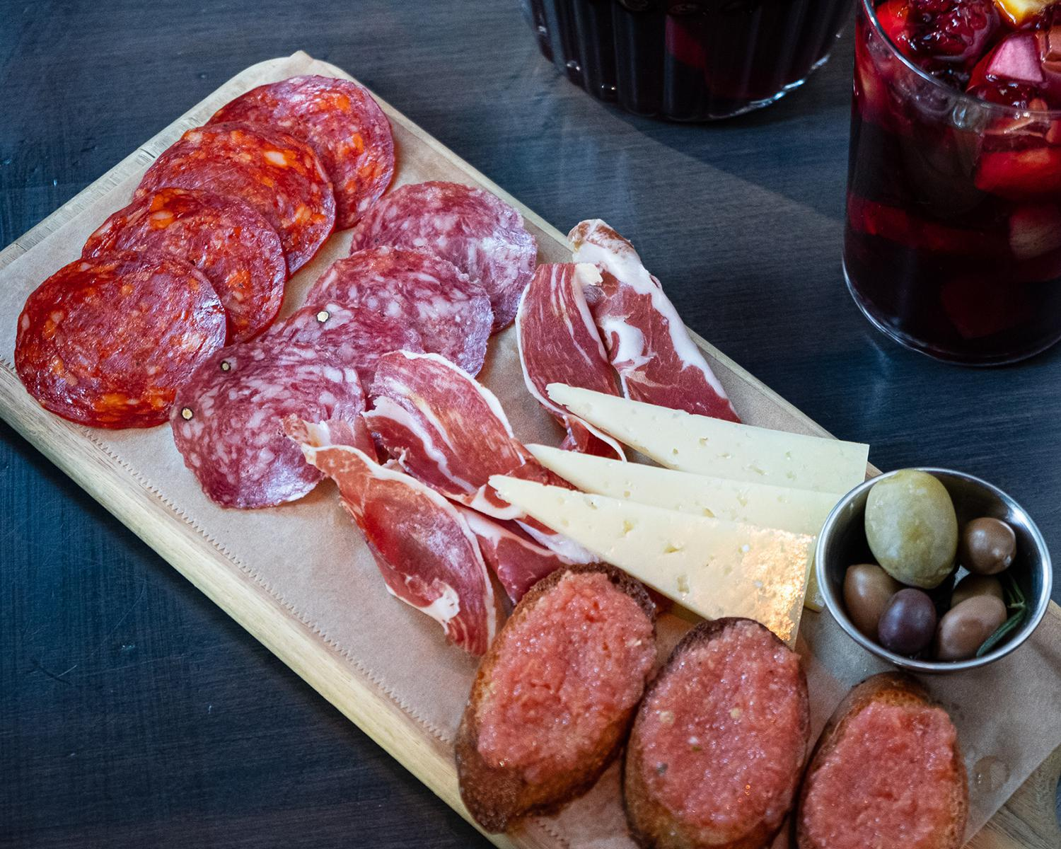 house meat & cheese plate
