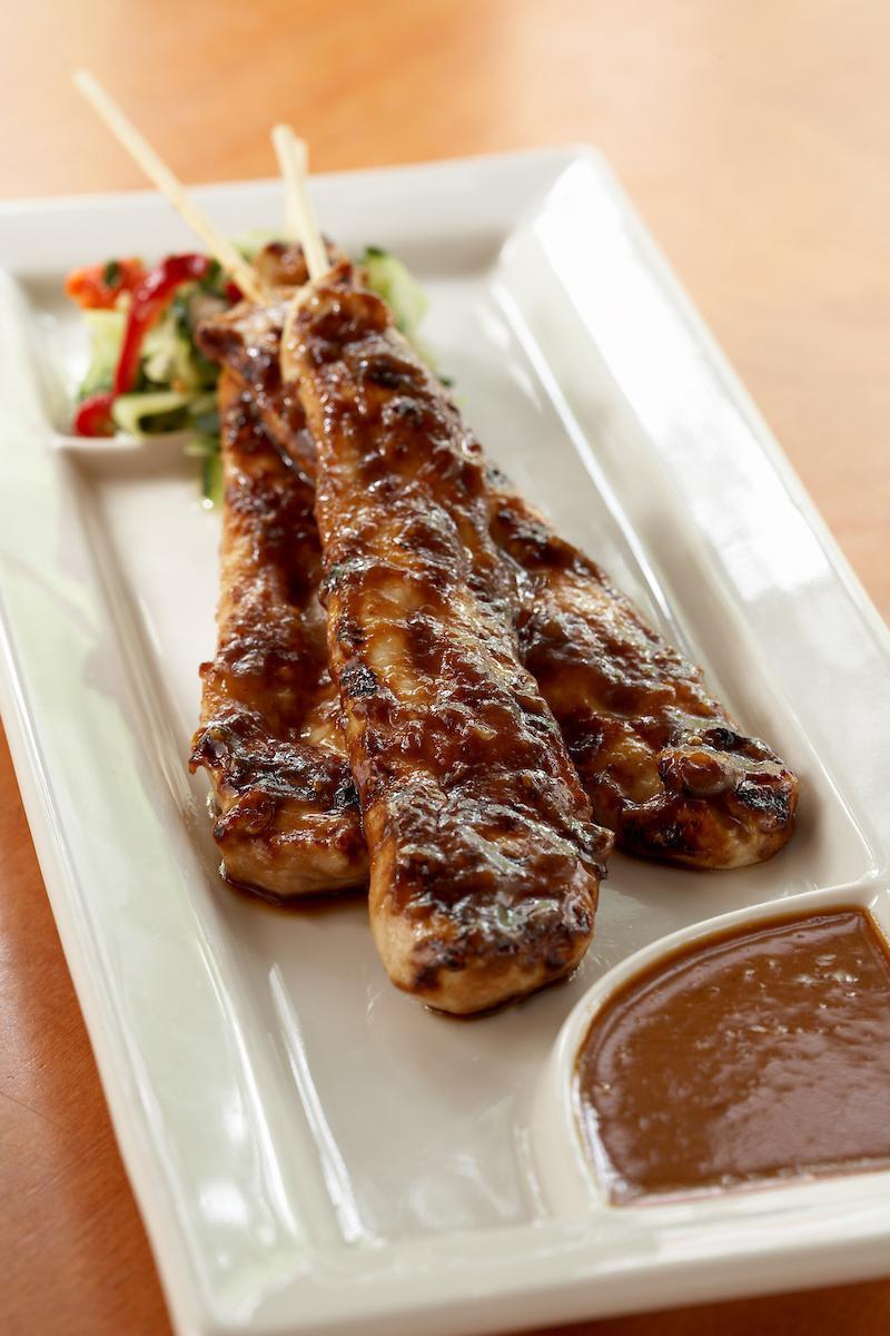 Grilled Chicken Satays (3)