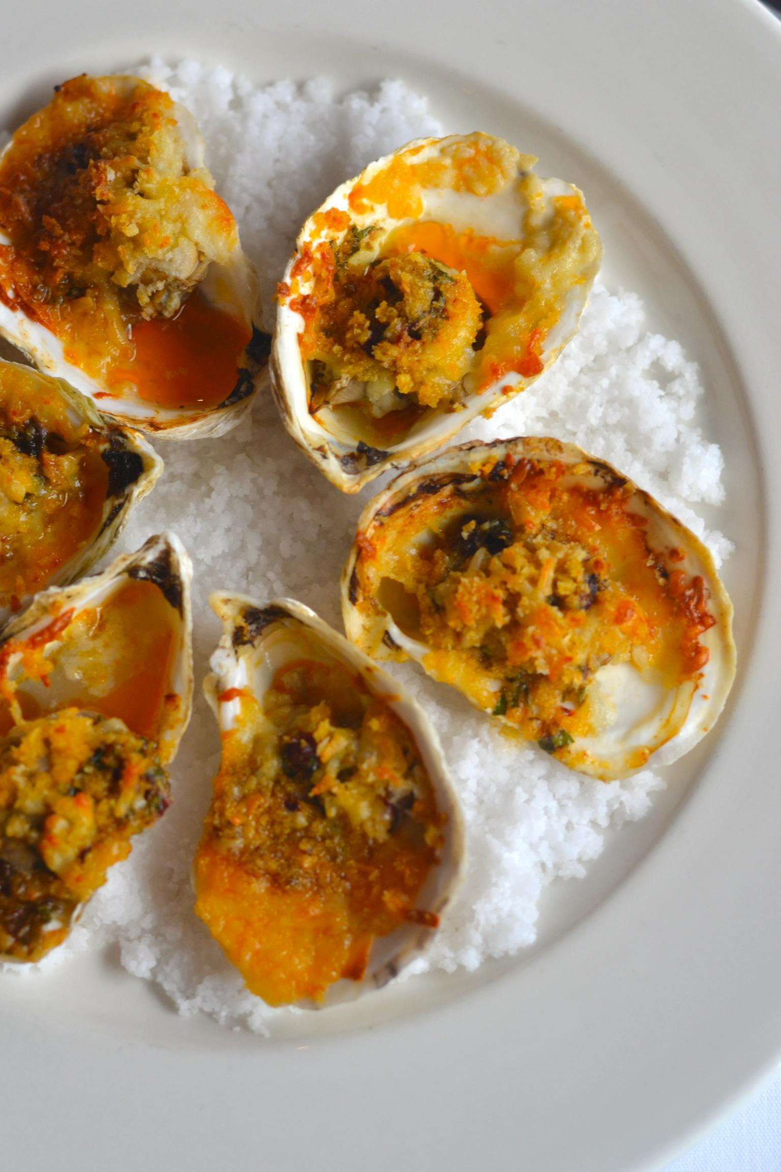 Roasted Gulf Oysters Photo