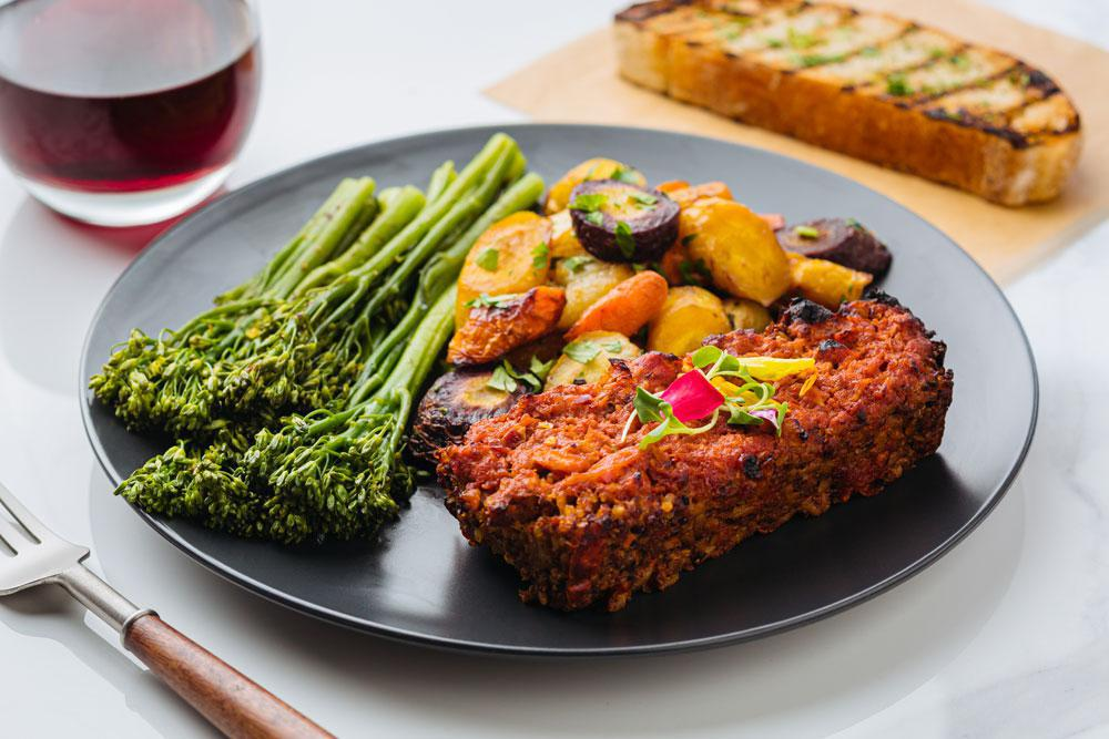 Meatless Loaf Plate