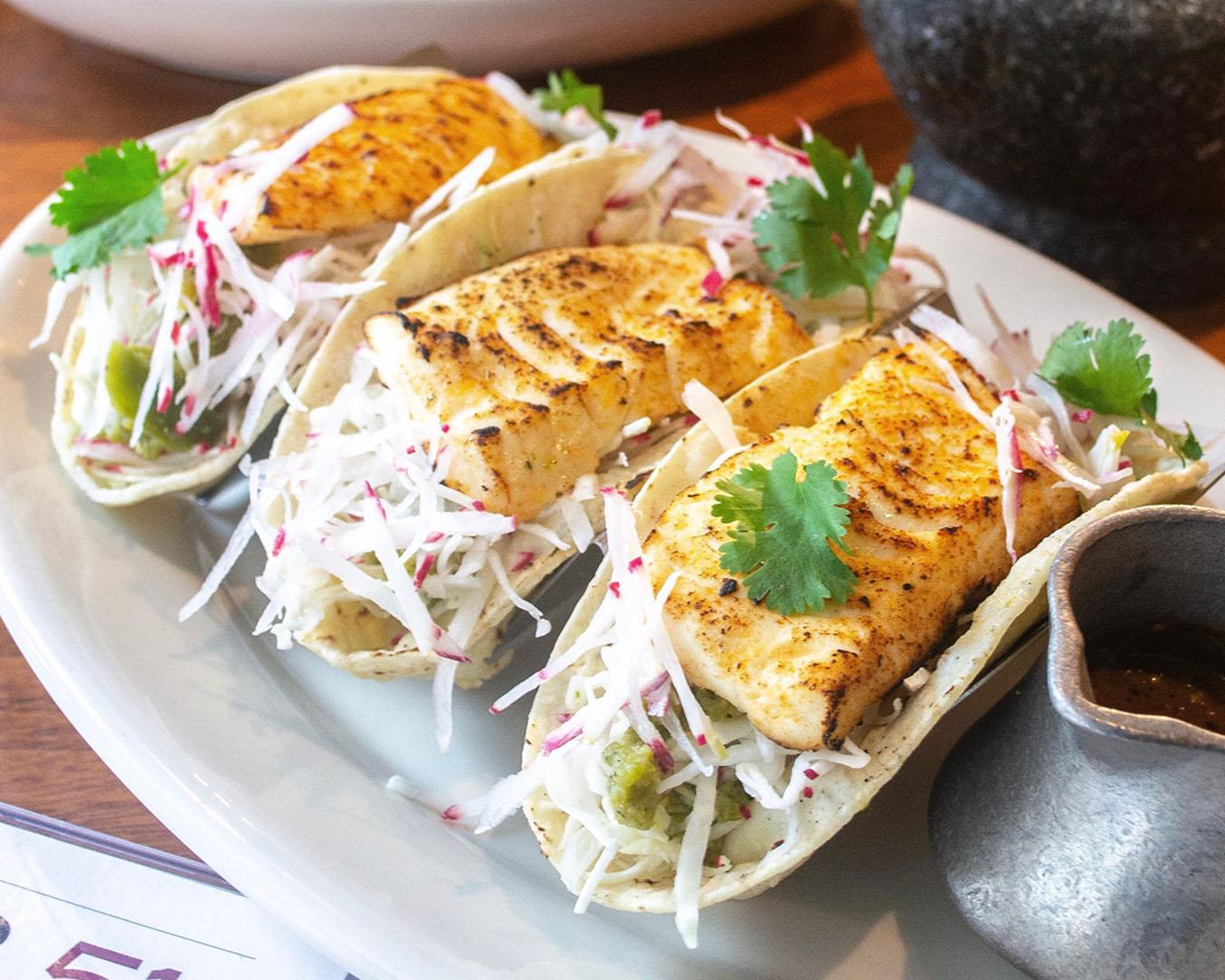 Grilled Halibut Fish Tacos*