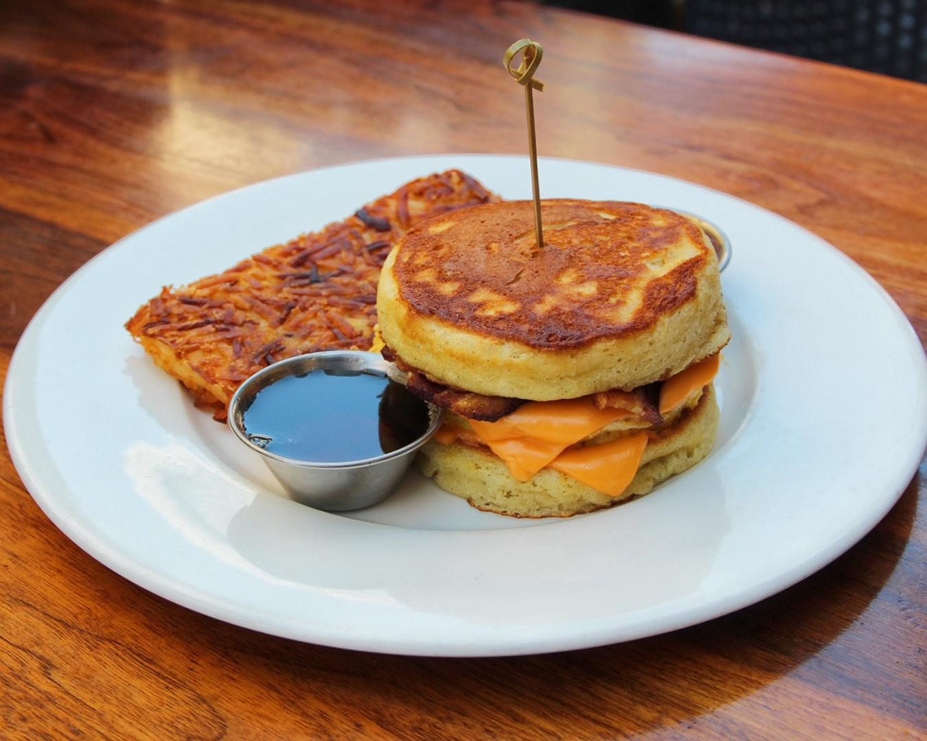 The Hub Pancake Sandwich