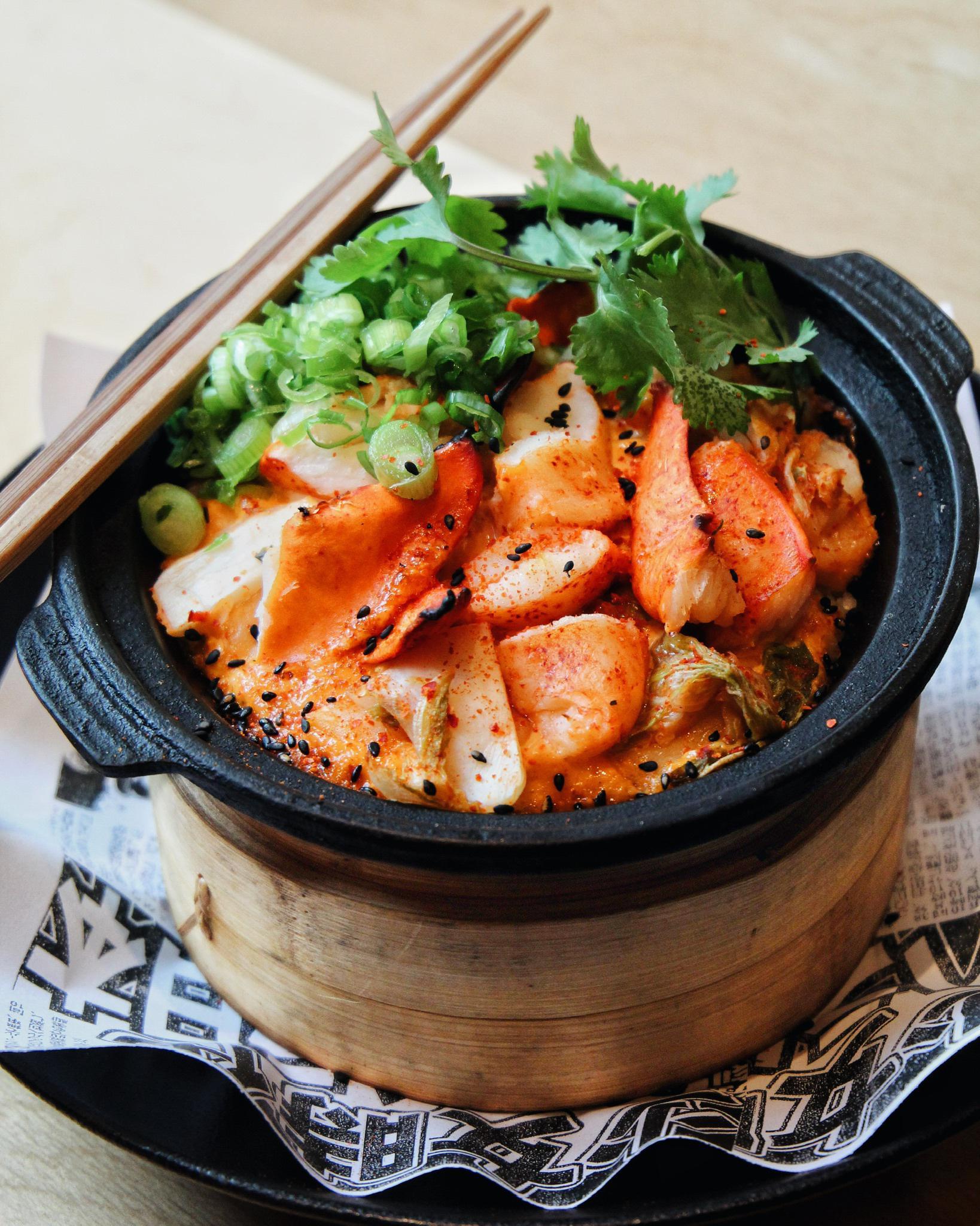 Lobster Kimchi Sizzling Rice