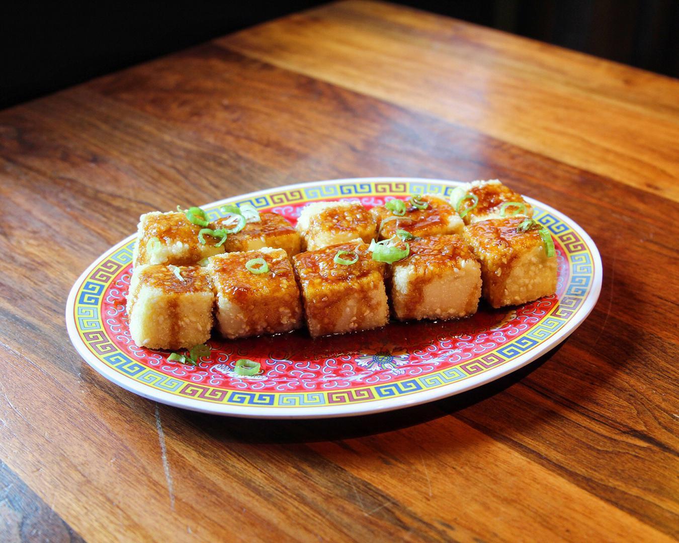 Crispy Garlic Tofu