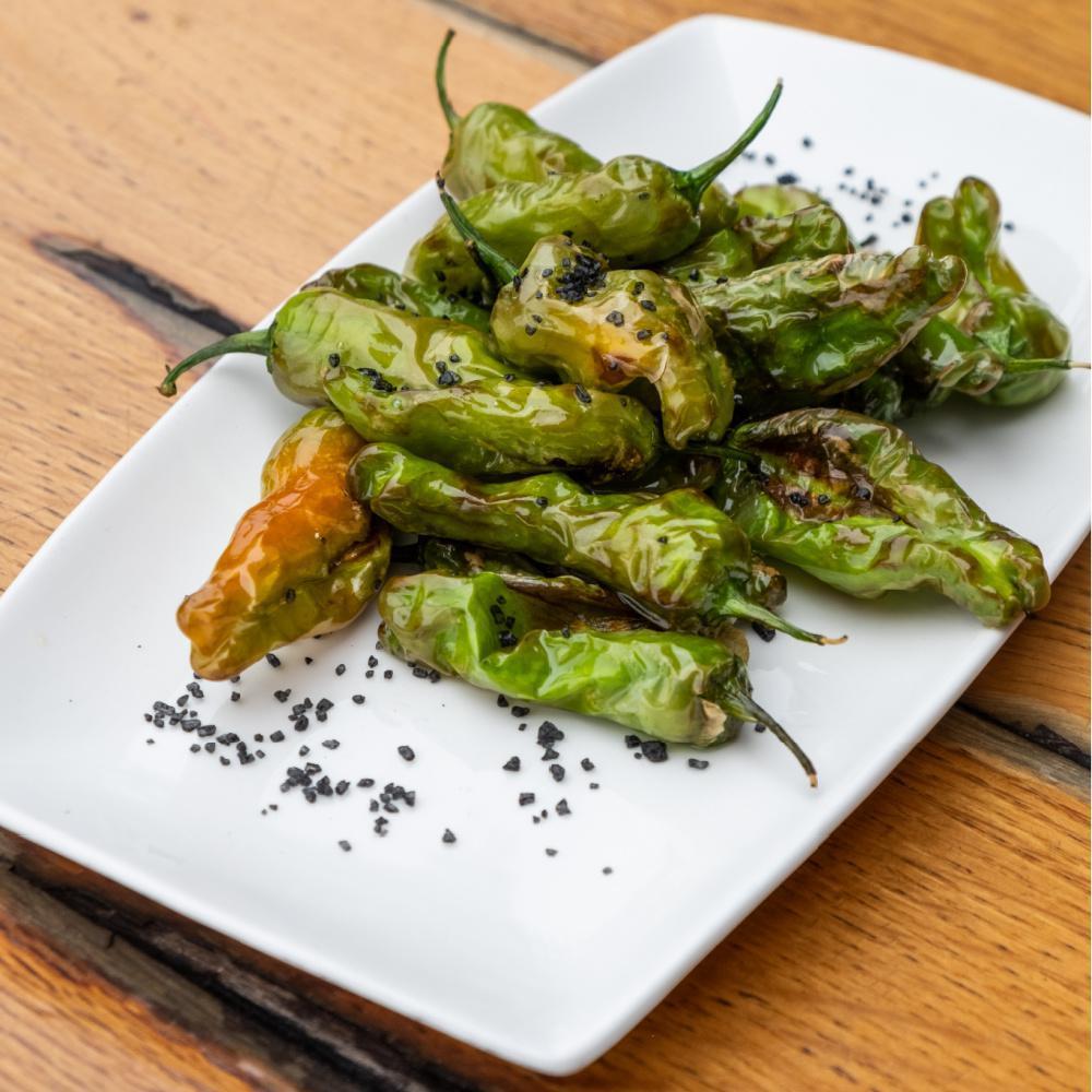 Fried Green Peppers & Coarse Salt