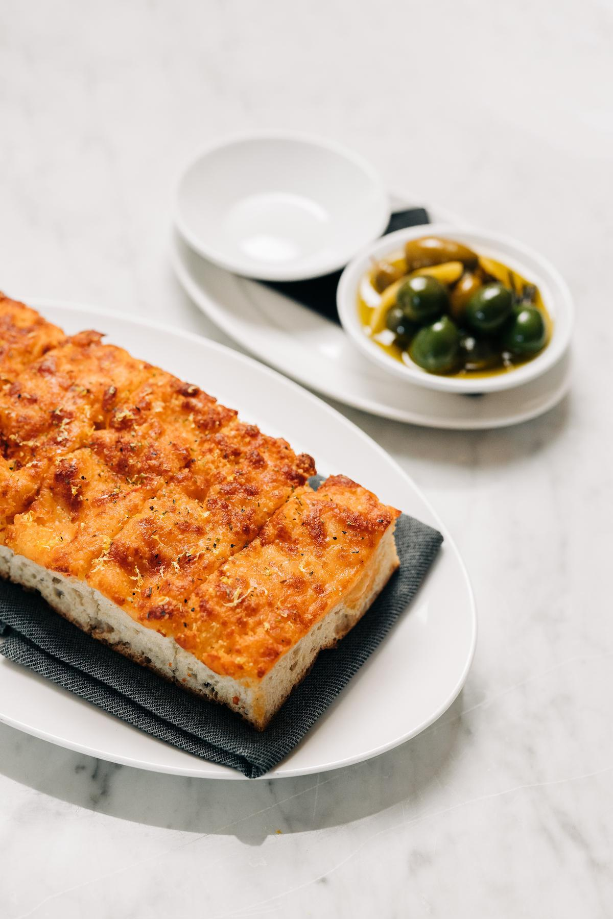 Cheese-Baked Focaccia