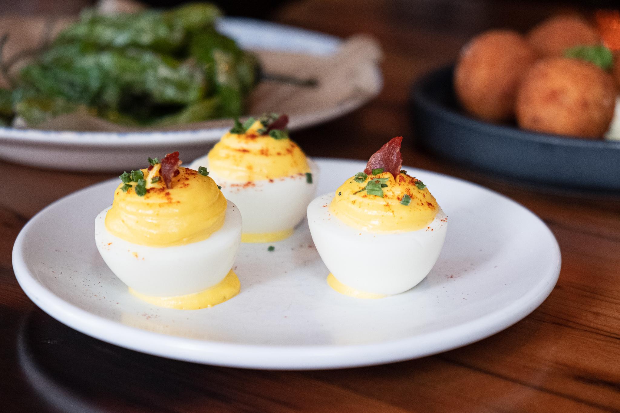 deviled egg pintxos