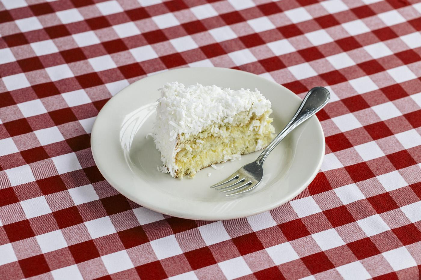 Double Layer Coconut Cake