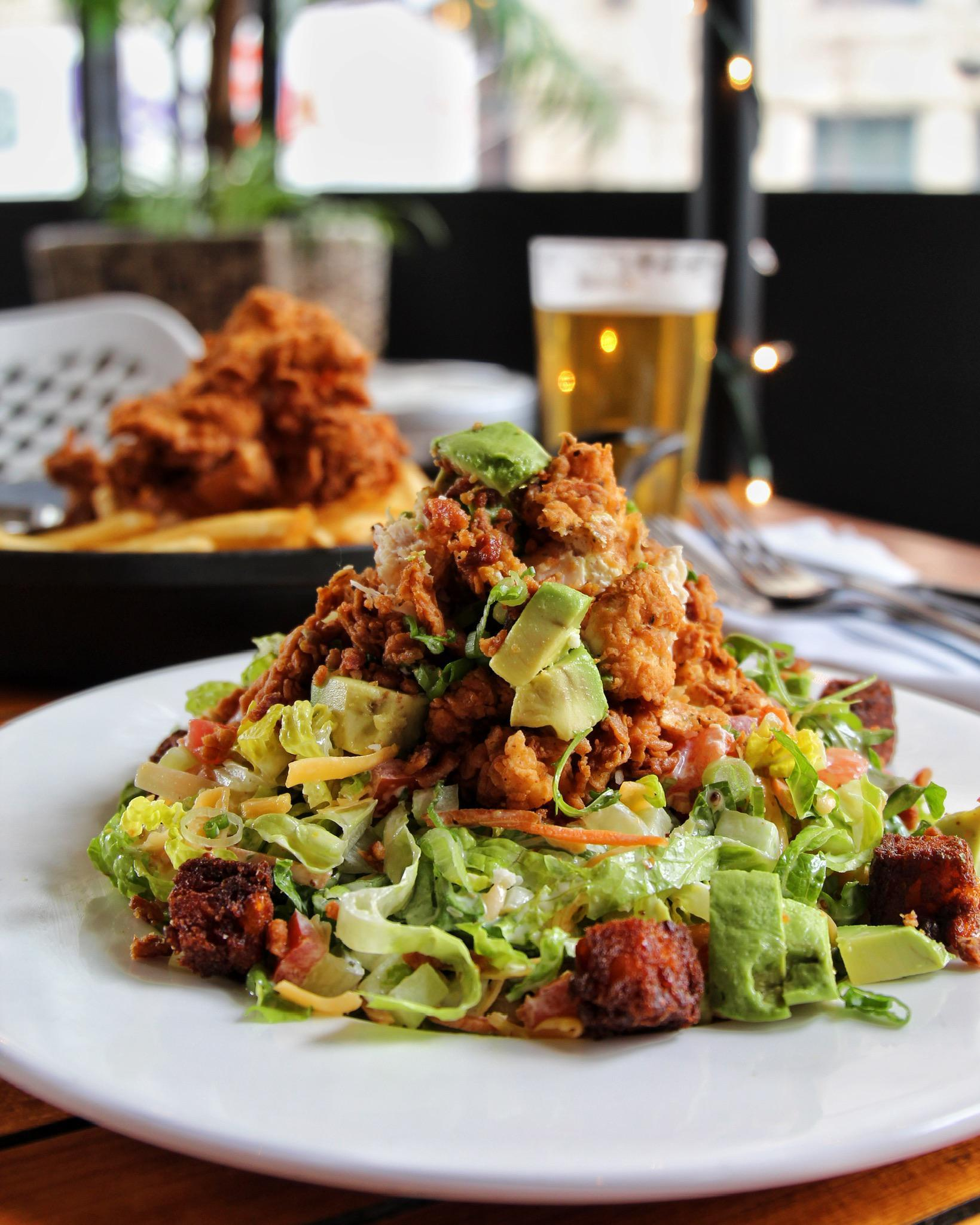 Crispy Chicken Tender Salad