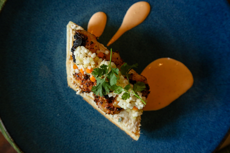 Blackened Shrimp Tartine Photo