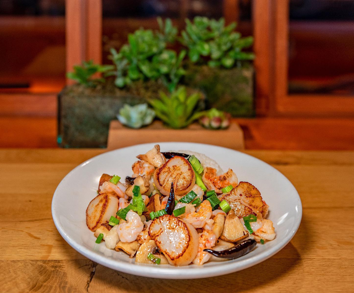 Ginger Sea Scallops & Shrimp
