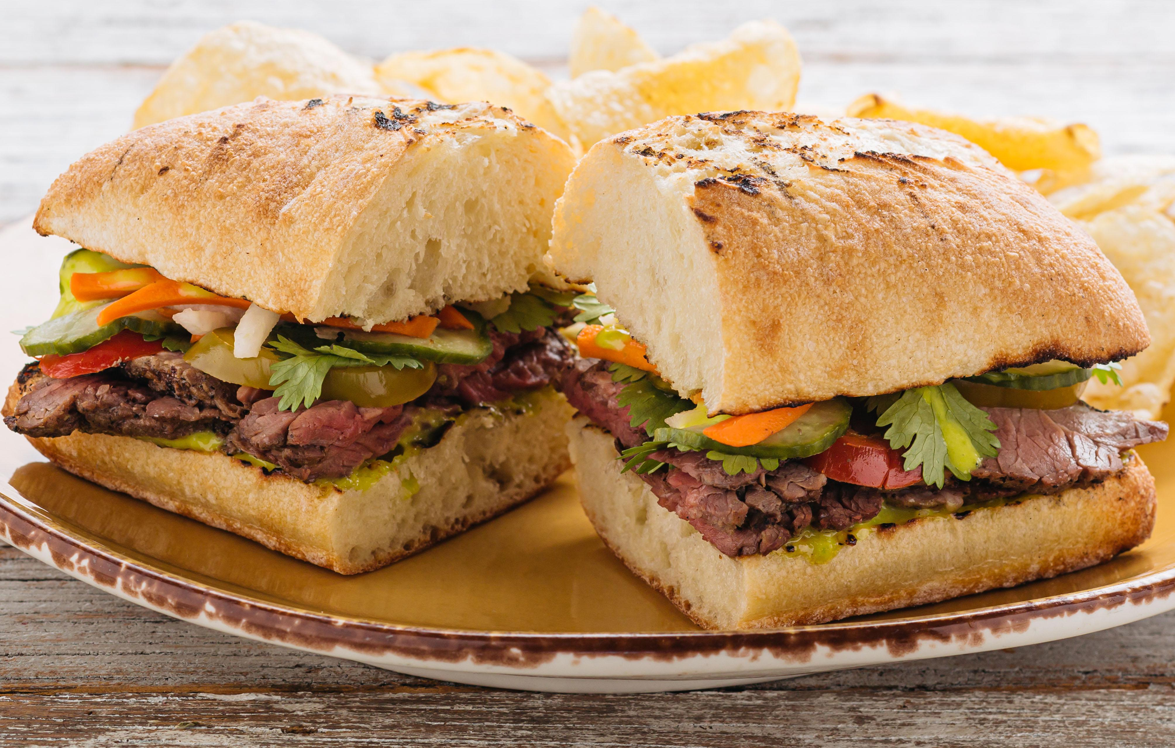 Grass Fed Steak Banh Mi