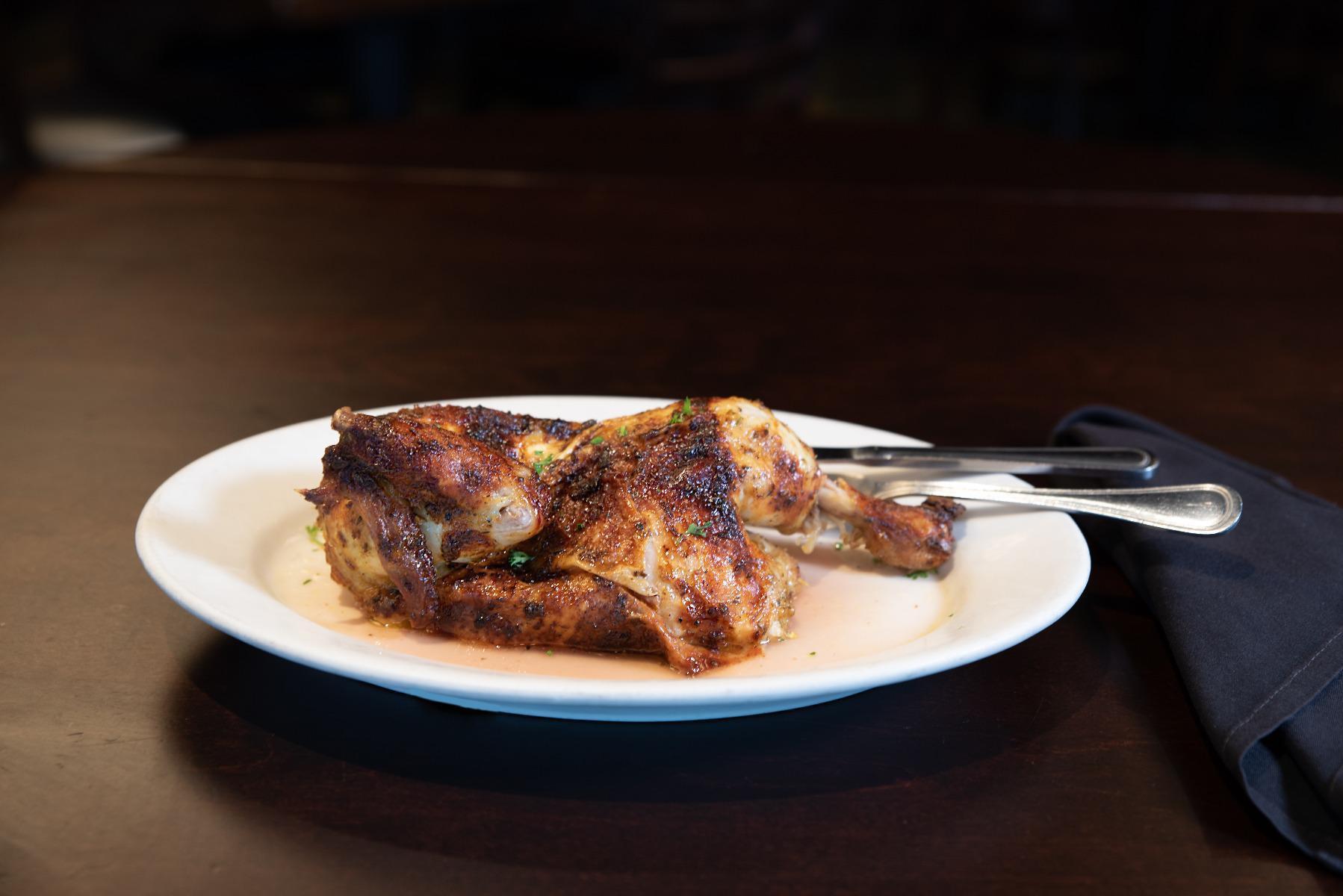 Spit-Roasted Half Chicken