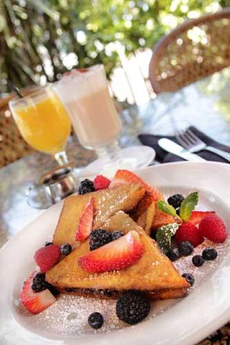 Stuffed French Toast with berry cream cheese filling and warm syrup at Mattison's City Grille