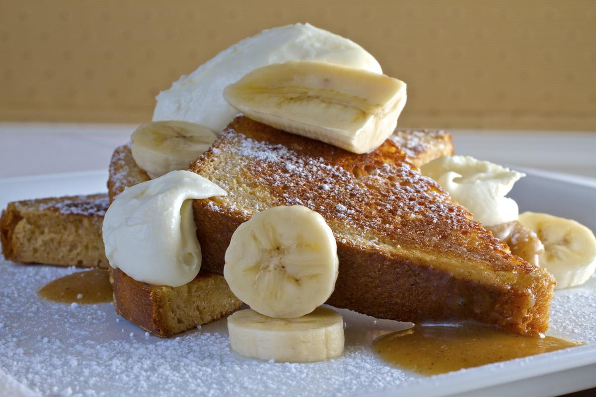 Brioche French Toast with Whipped Mascarpone at Nine Ten