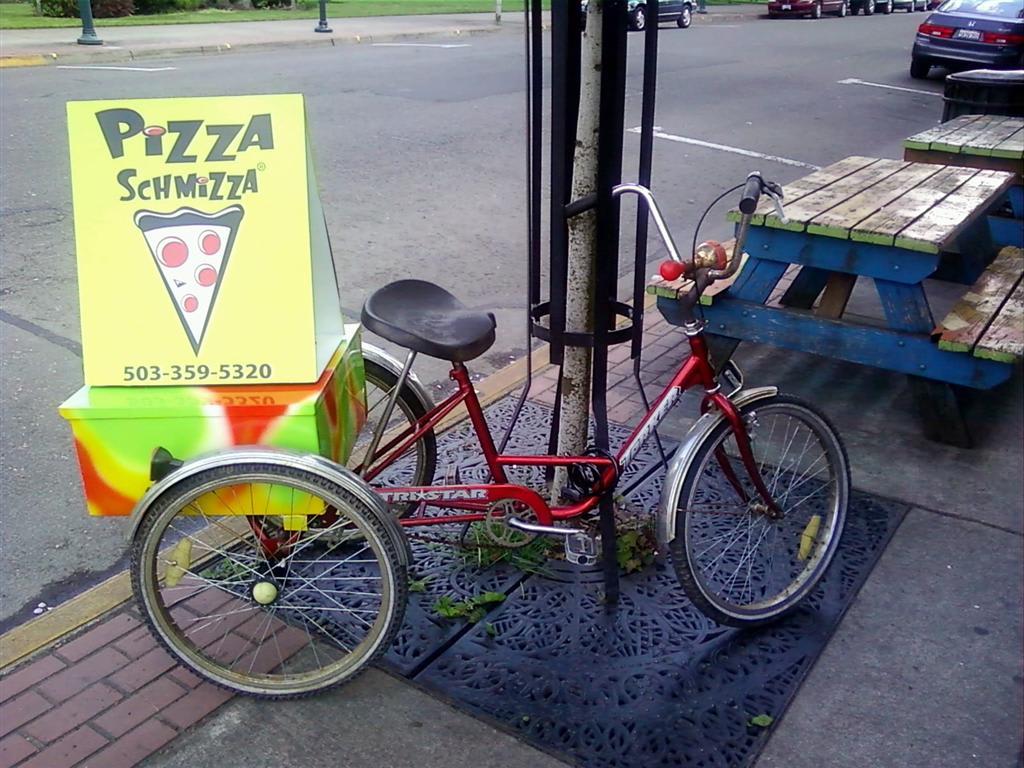 Delivery Bike at Pizza Schmizza