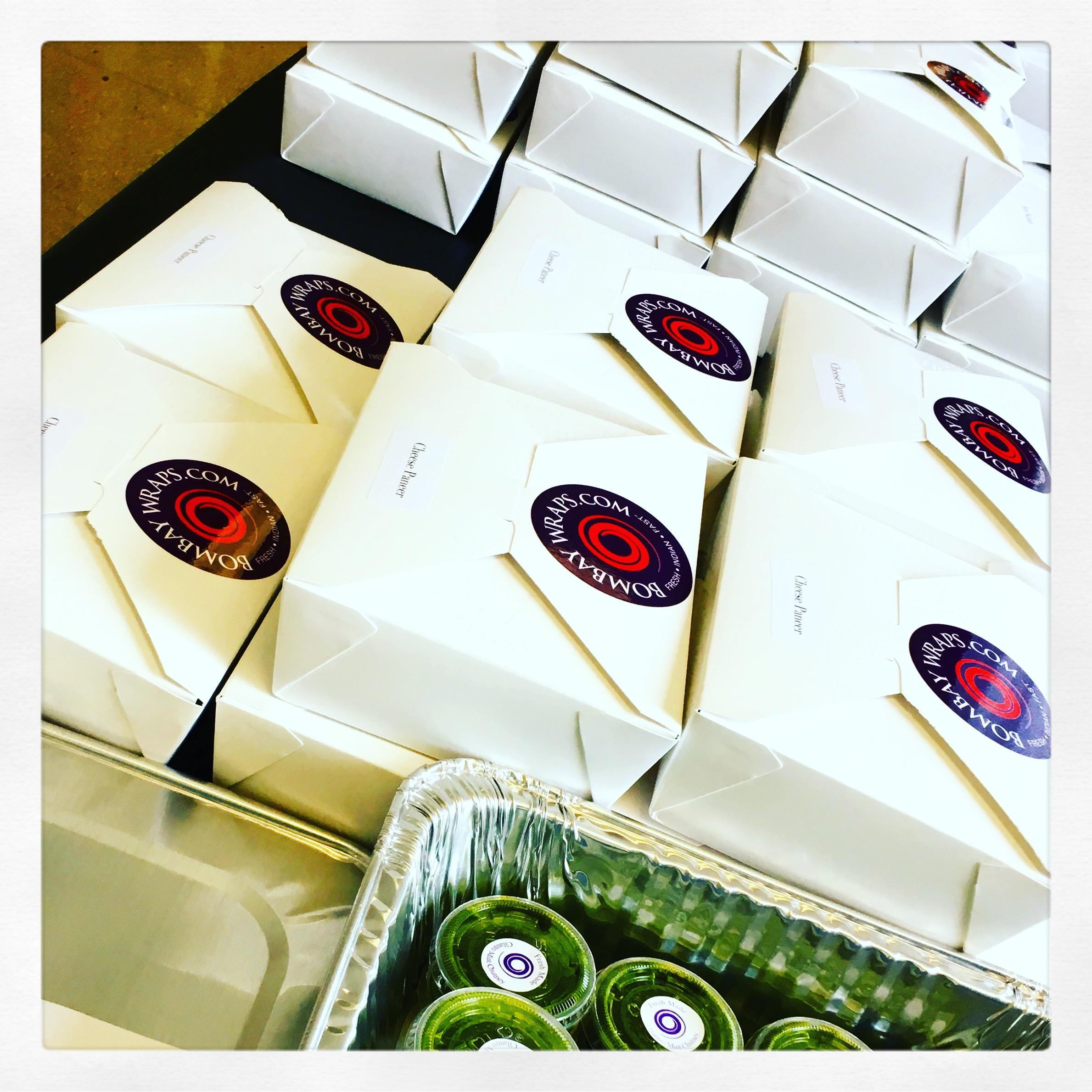 Your lunch is ready to go, courtesy BW Box Lunch offering at Bombay Wraps