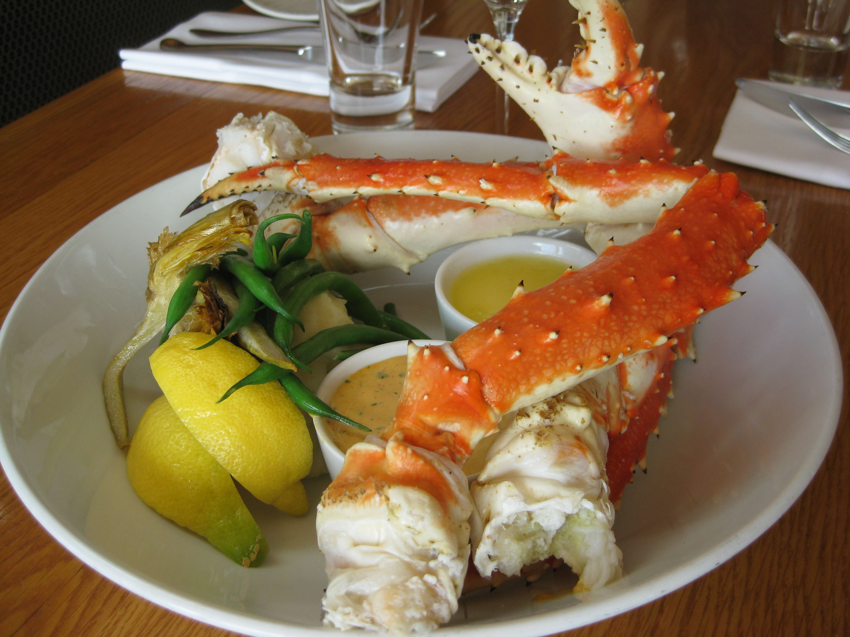 King Crab Legs at Ray's Boathouse Restaurant, Cafe & Catering