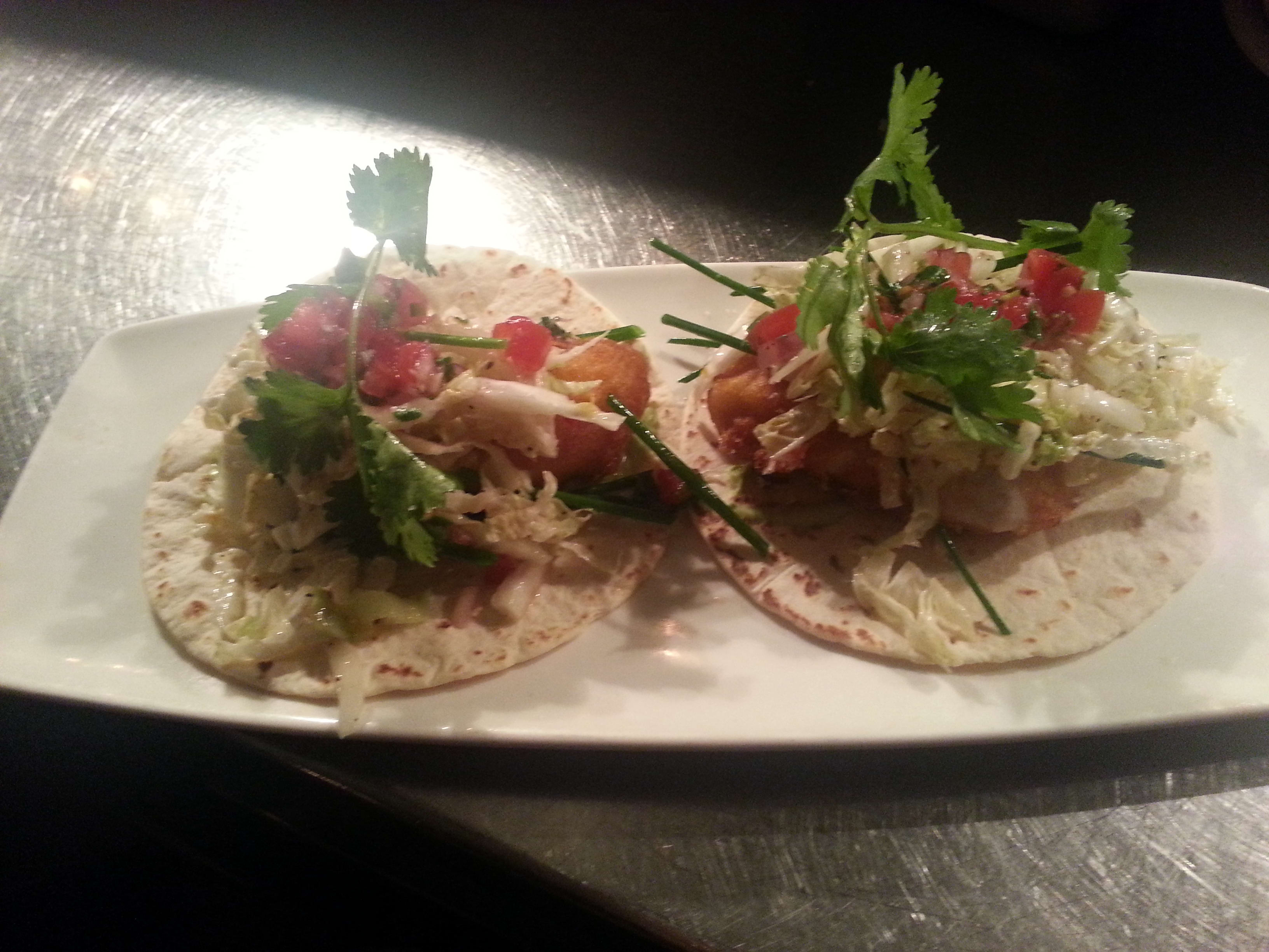 Tequila Lime Marinated Grilled Fish Taco  at 32 East
