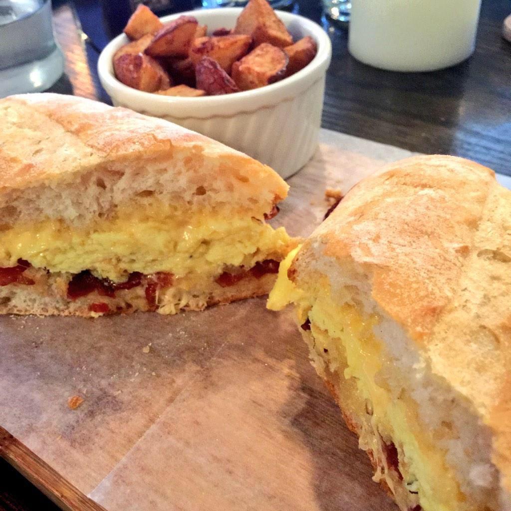 with bacon at Snowdonia Gastropub