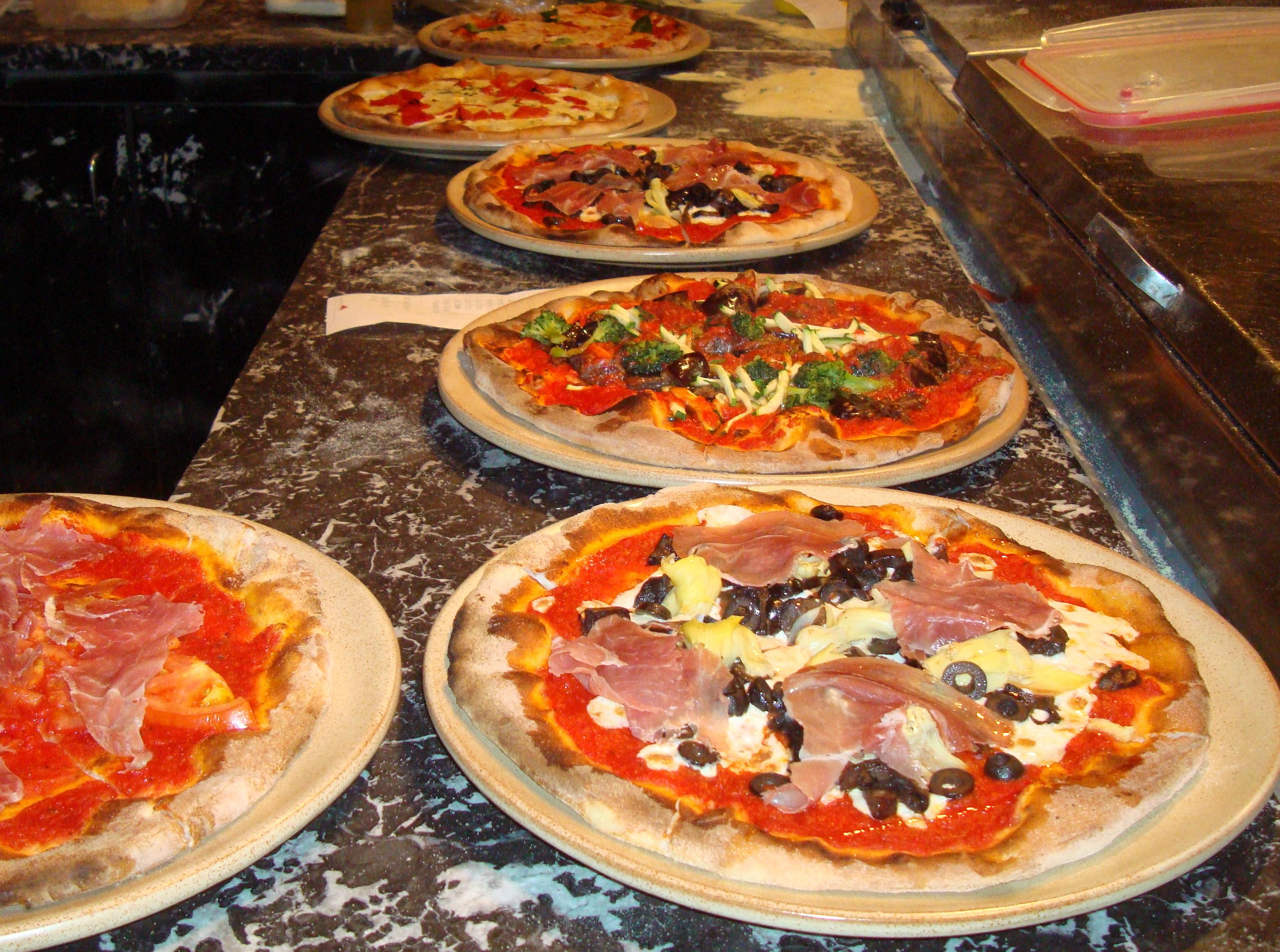 Wood Fired Brick Oven Pizza at Caffe Capri