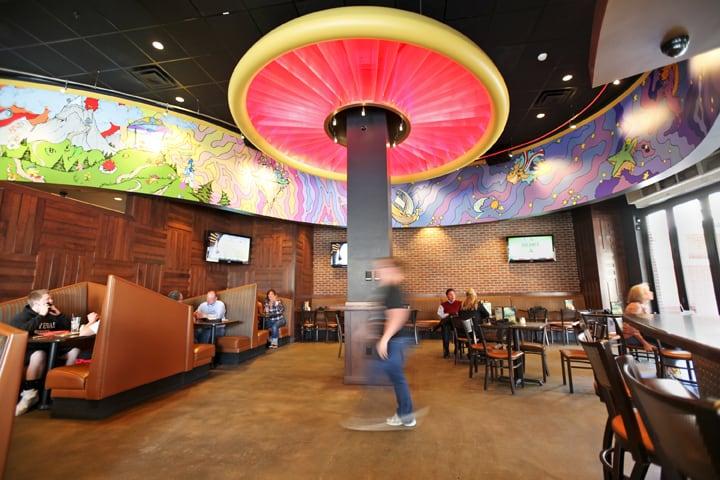 Interior Mellow Denver at Mellow Mushroom