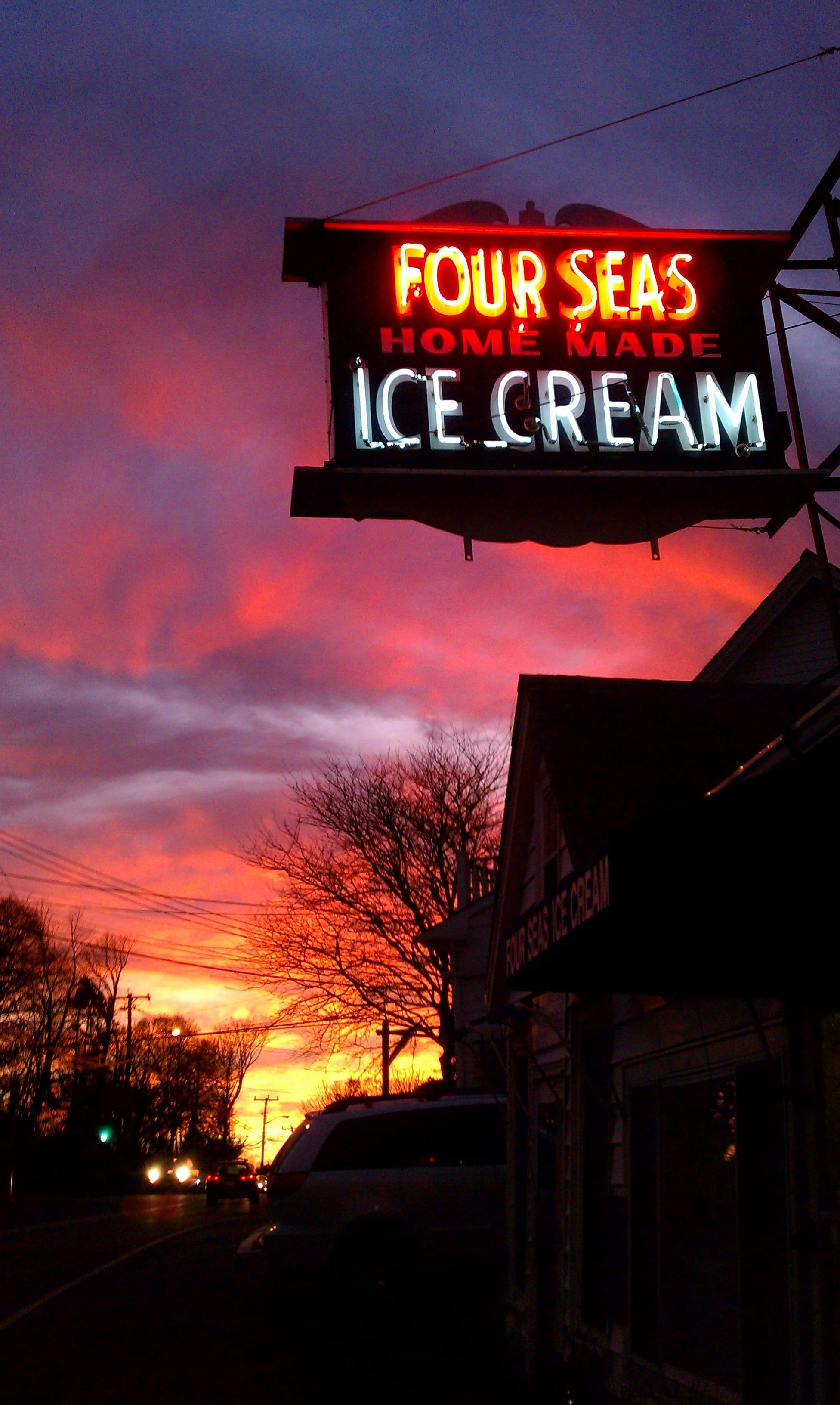 Four Seas Ice Cream - Sunset  at Four Seas Ice Cream