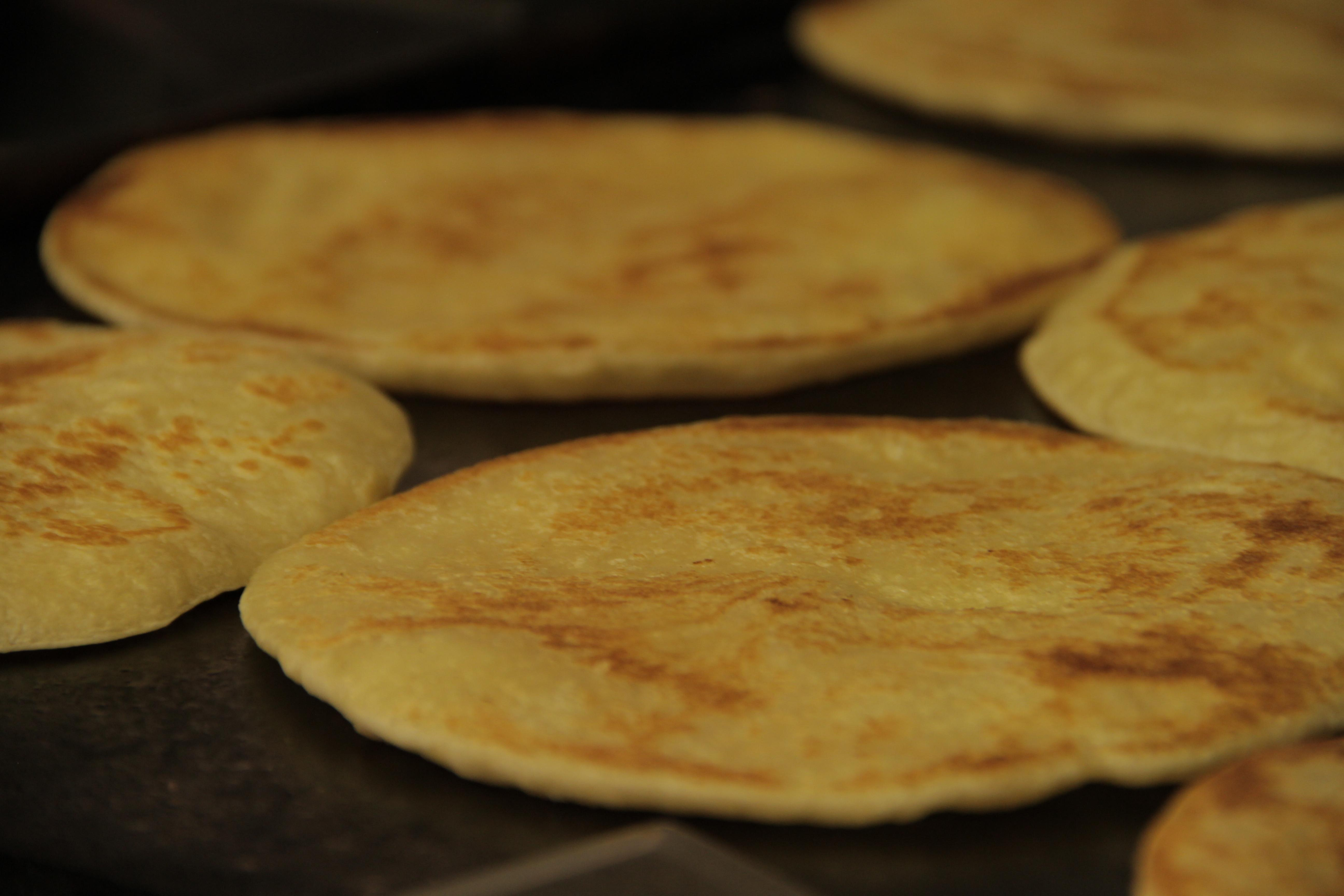 Flaky flatbread Paratha at Bombay Wraps