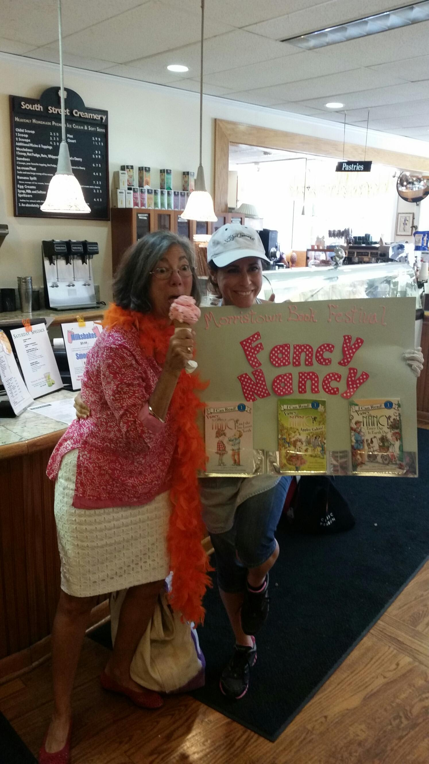 The Author of Fancy Nancy, Herself!!! at South Street Creamery Cafe