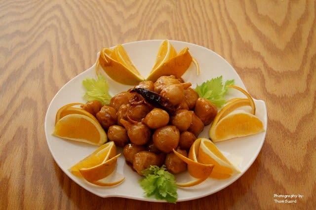 Vegan Orange Chicken at Good Fortune