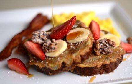 Our Signature Banana Bread French Toast at Hotel Indigo San Diego