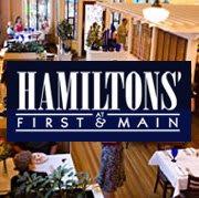 logo at Hamilton's at First and Main