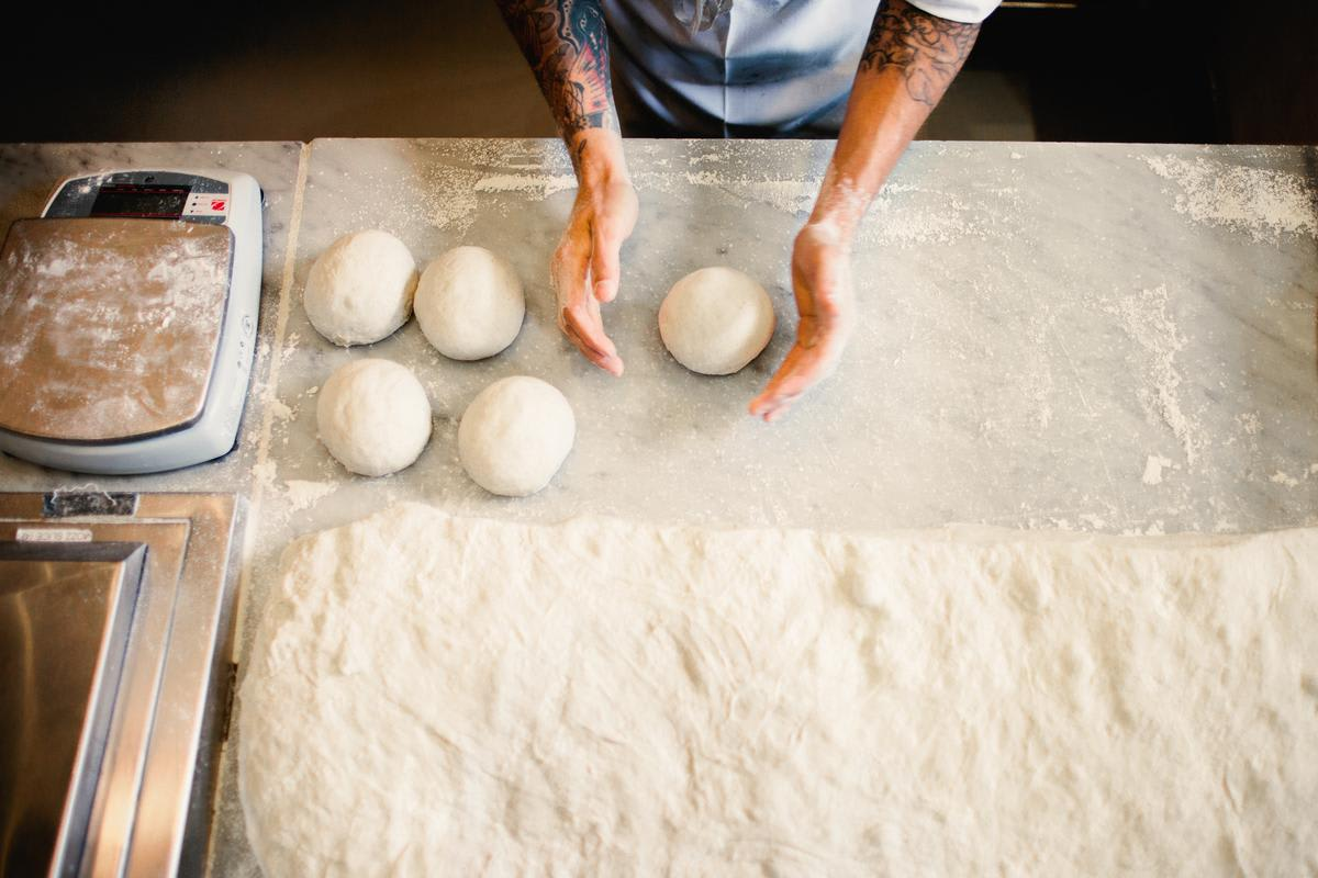 100% california flour at Stella Barra Pizzeria