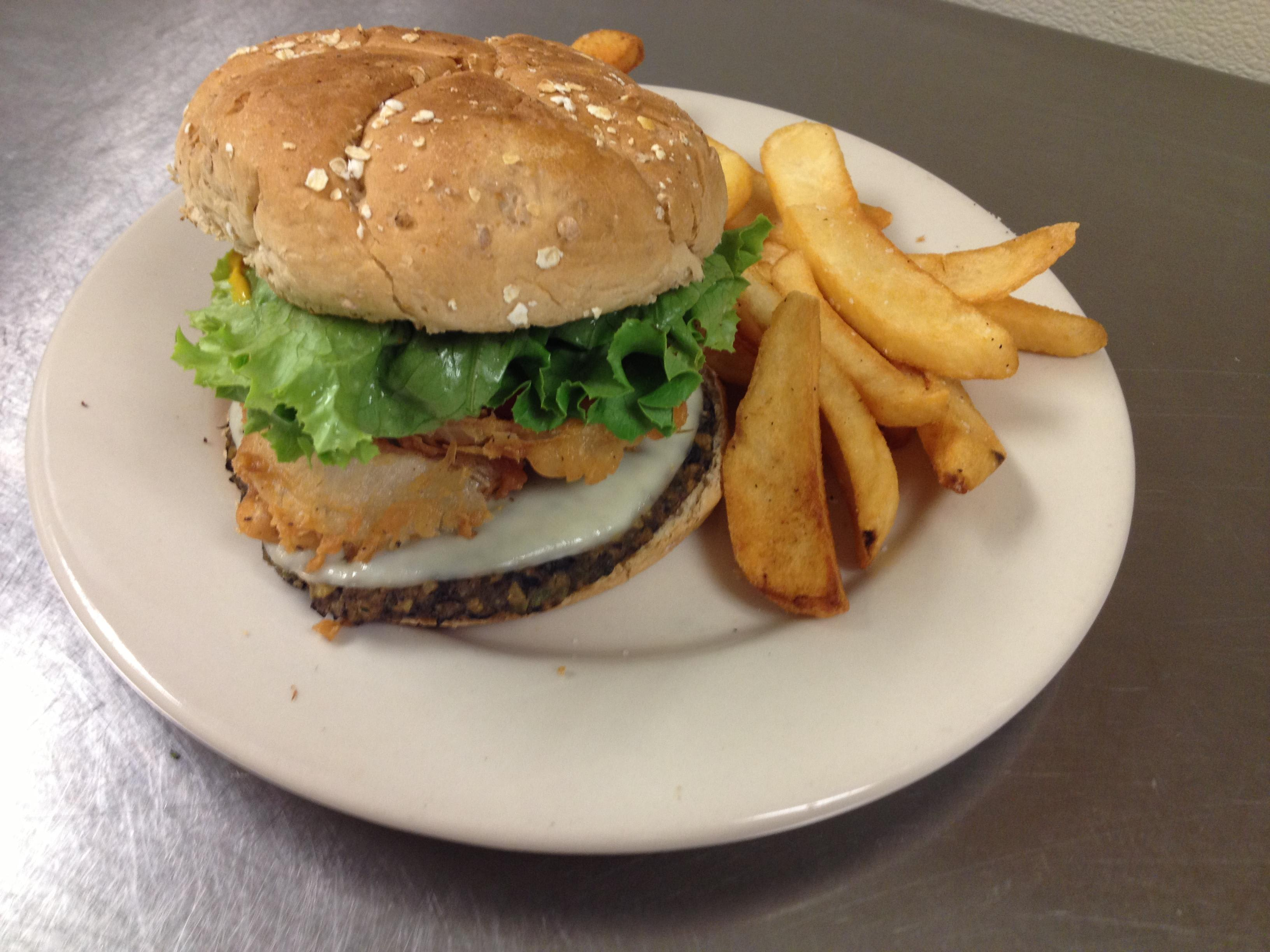 Black Bean Veggie Burger at Sir Edmond Halley's