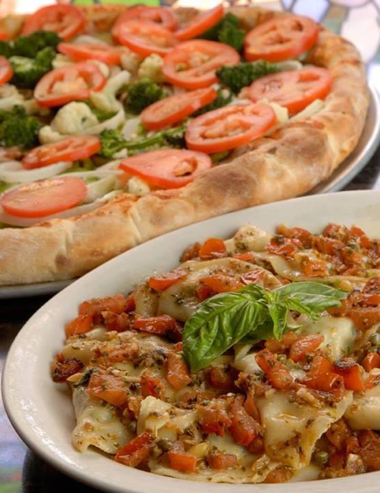 Vegetarian Pizza & Mezzaluna/Tortellini at Angelo's & Vinci's Ristorante