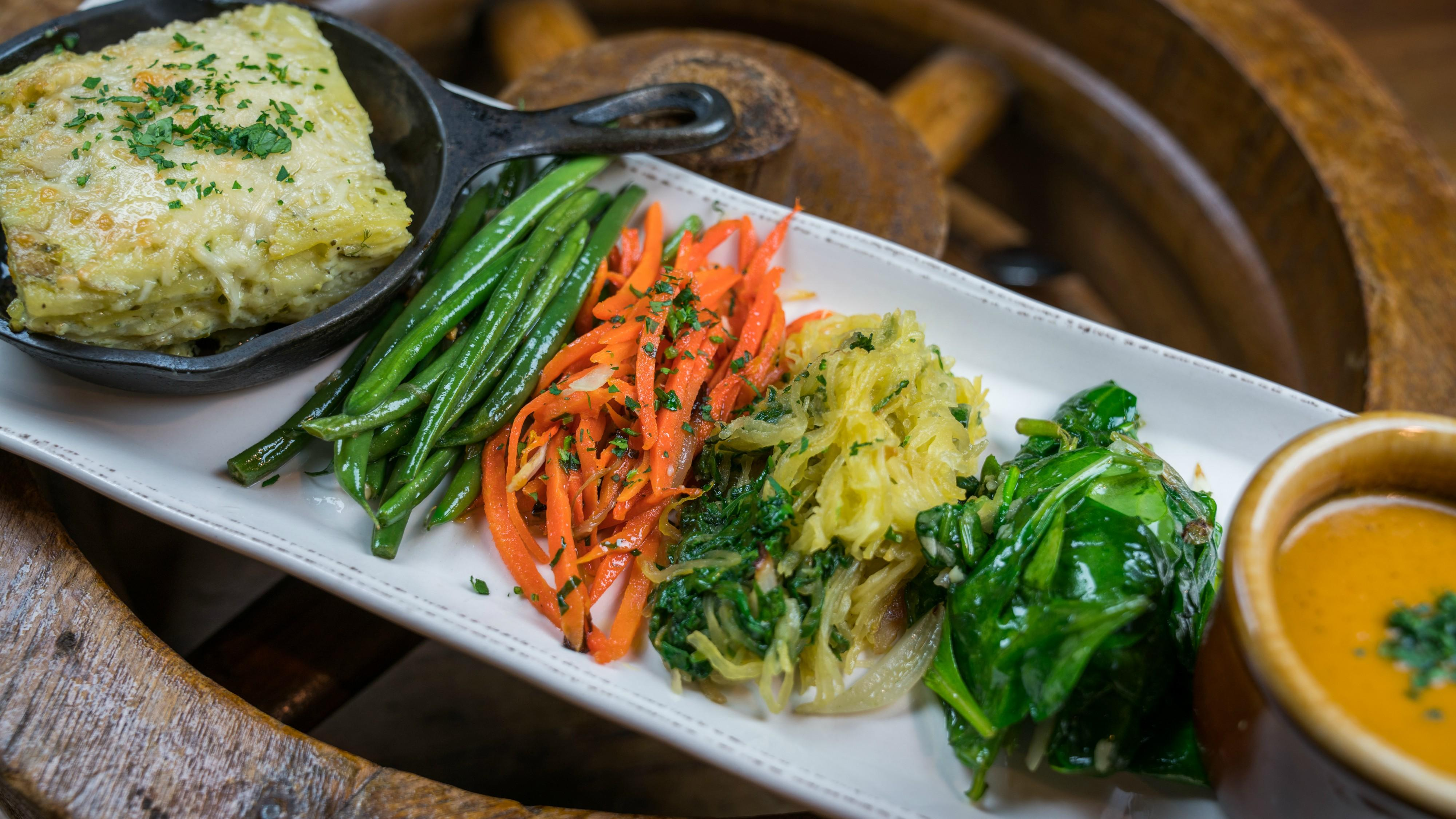 Vegetarian Nosh Choose any 5 vegetables or starch combination & 1 sauce at Tonto Bar & Grill
