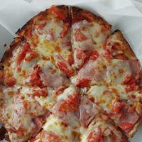 Personal Pan Pizza with Ham, Tomatoes, and Feta (cut in 8s) at House of Pizza