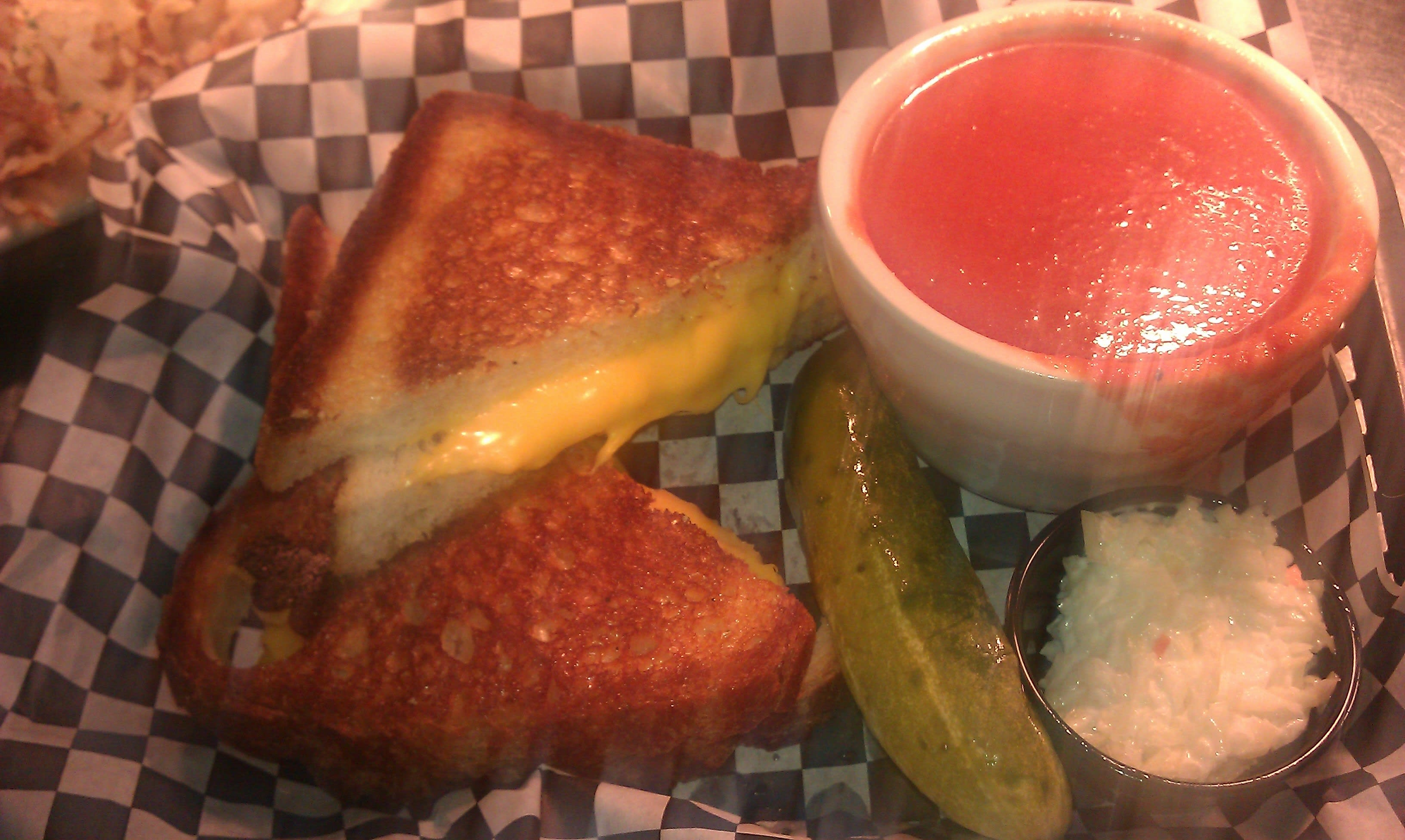 Grilled Cheese and Tomato Soup  at The Pop Shop