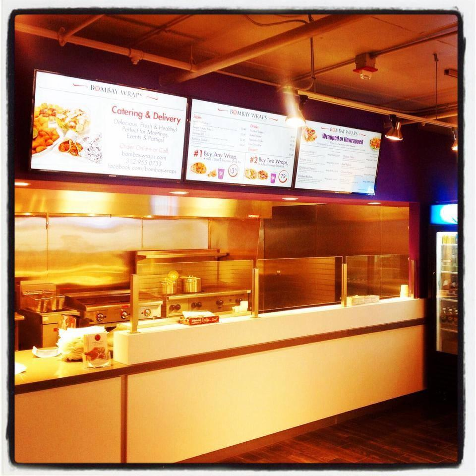 A look inside our Streeterville location (330 E Ohio St) at Bombay Wraps