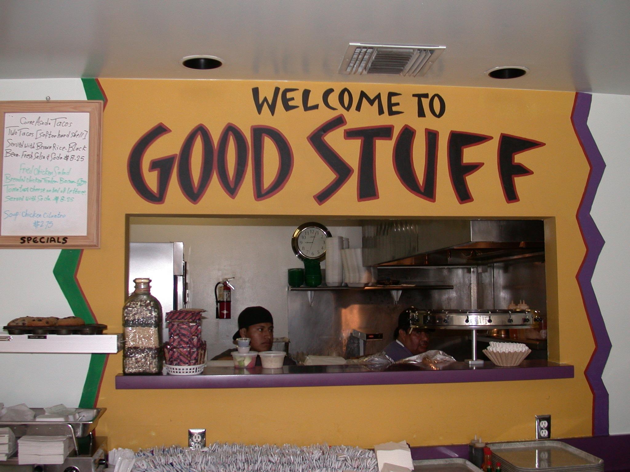 Counter at Good Stuff Burgers